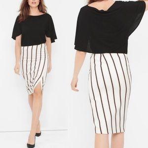 White House Black Market striped pencil skirt